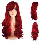 Fashion Heat Resistant Long Dark W Red Curly Cosplay Women's Full Hair Wig/Wigs Synthetic Curly Hair, Synthetic Lace Front Wigs, Wig Hairstyles, Straight Hairstyles, Wine Red Hair, Cheap Cosplay Wigs, Full Hair, Anime Wigs, Long Hair Extensions