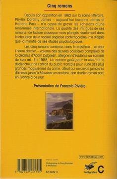 Les Intégrales du Masque - P.D. James - Volume 3 - Verso - Novembre 2003