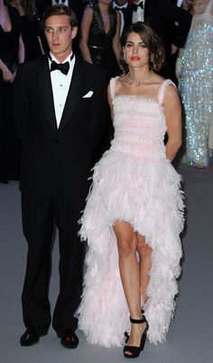 Chanel pale pink with feathers-