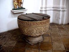 Romanesque baptismal font Rohr