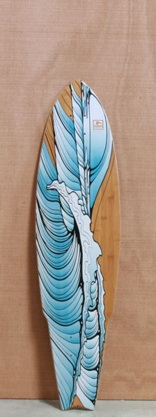 Gnarly #wave #surfart #surfboard #inlove