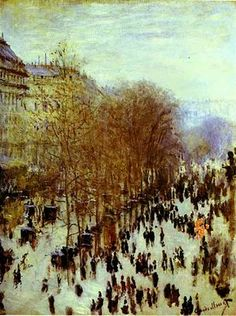 'Les Boulevards des Capucines' ~ Claude Monet, 1873
