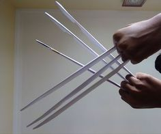 Wolverine Claws out of paper