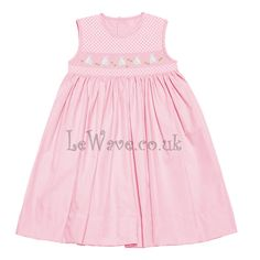 Cute hand smocked dress for girl with bunny and geometric pattern - LD 086 http://lewave.co.uk/Detail-cute-hand-smocked-dress-for-girl-with-bunny-and-geometric-pattern---ld-086-4035.aspx