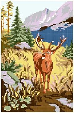 The king of the moor - cross stitch pattern PDF. Instant download