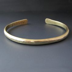 Personalized Thin Gold Stacking Bracelet 1 by StringOfJewelsCuffs, $21.99
