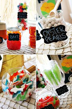 {Cheers to Summer} Surfer Style Kids Pool Party Ideas.  May have to tap Deidra to create gum ball centerpieces.