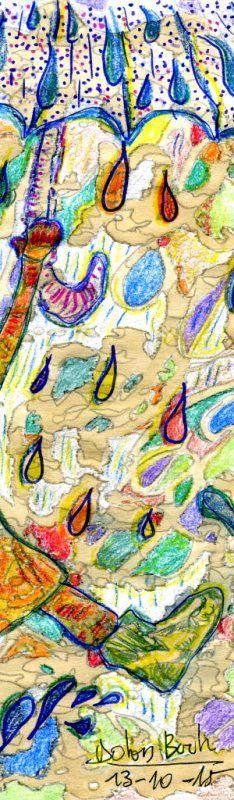 Plou g  13-10-15  pintat  cafè retoladors llapis colors fusta Punt s Dolors Buch Castañer