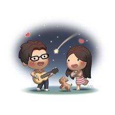 Sweet  #hjstory #love #cute #like #cartoon
