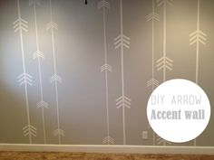 Someday-DIY Arrow Accent Wall for Nursery Big Girl Rooms, Baby Boy Rooms, Girl Nursery, Nursery Decor, Nursery Ideas, Room Ideas, Idee Diy, Nursery Neutral, Diy Wall
