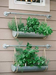These fun and functional DIY herb gardens are perfect for both homeowners and renters. Whether you have a large outdoor area or small space on your kitchen countertop, these planters fit everyone's needs.