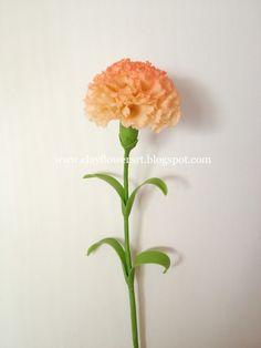 Clay Flower Art: Carnation Tutorial