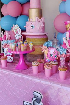 Sweet Shopkins birthday party! See more party ideas at CatchMyParty.com!