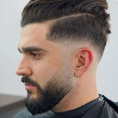Drop Fade Haircut for an Ultimate Stylish Look. Drop fade haircuts for men are going to be a big hit in the summer season this year. Faded Beard Styles, Beard Styles For Men, Cool Haircuts, Haircuts For Men, Men's Haircuts, Latest Haircut For Men, Latest Haircuts, Drop Fade Haircut, High Skin Fade