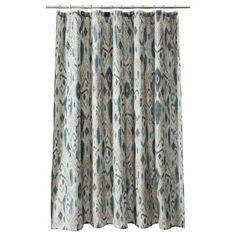 Blue Ikat...Threshold™ Ikat Mix Shower Curtain  $19.99