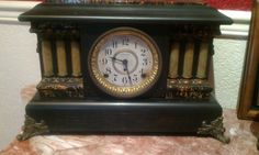 Antique mantle clock, magnificent    We used to have one exactly like this.
