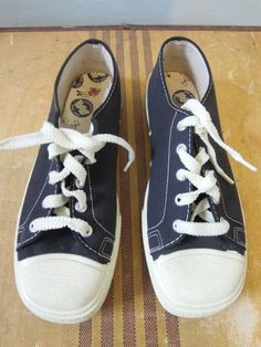 vintage 1950s sneakers canvas shoes never worn NOS by commissar, $45.00