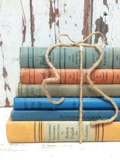 Vintage School Books,RETRO,German Book,Russian Books by beachbabyblues, $58.00