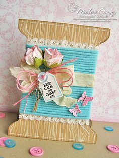 My Craft Spot: DT post by Marlene - Keep Calm and Craft On! Fancy Fold Cards, Folded Cards, Cute Cards, Diy Cards, Sewing Cards, Shaped Cards, Get Well Cards, Mothers Day Cards, Card Making Inspiration