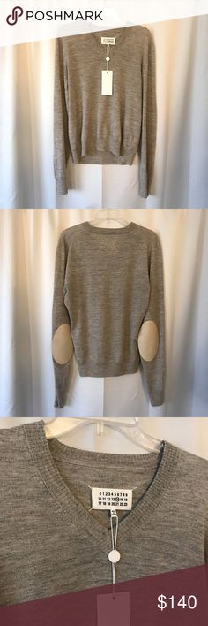 $550 Maison Margiela Lambskin Patch Sleeves Brand New With Tag. Maison Margiela Lambskin Patch Sleeves Pullover. Light Grey. Size M. True To Size. MSRP: $550 after tax Maison Martin Margiela Sweaters Crewneck