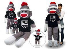 Los Angeles Kings Sock Monkey want! so cute La Kings Hockey, Mini Monster, Royal King, Wichita State, King Baby, Los Angeles Kings, Hockey Mom, Nhl