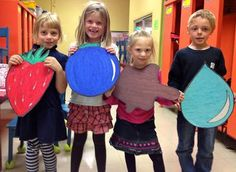 Pete the Cat - storytelling and sequencing props - great idea for group participation in storytelling