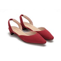 Yoins Pointed Toe Suede Flat Shoes In Red (8.442 KWD) ❤ liked on Polyvore featuring shoes, flats, red, shoes flats, flat pumps, low cut flats, red suede shoes, pointed-toe flats and red flats
