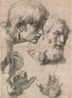 Raphael's Studies of Two Apostles for the Transfiguration Photograph: Ashmolean Museum