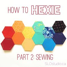 After basting, it's the more fun part - the sewing! Sewing hexies can be done anywhere, and require very few materials, and that's part of why I like using them so much. Materials Needed: • * Basted...