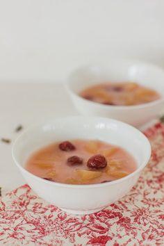 Sopa fria de ginjas