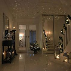 Lovely ambience and great decoration👌🎄✨ Happy holidays to all and thank you for helping us reach our Interior Design Living Room, Living Room Decor, Bedroom Decor, Flur Design, Best Decor, Deco Originale, Aesthetic Rooms, Design Case, Dream Rooms