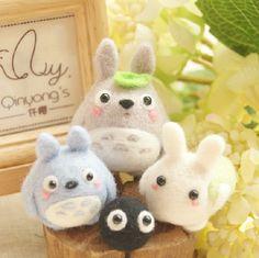 felted wool -----Totoro