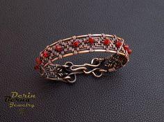 Women copper braceletCopper charm by BernaDerinJewelry on Etsy