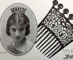 Hair combs by Auguste Bonaz, French magazine advertisement.