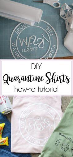 DIY Quarantine Shirt how-to tutorial Weeding Tools, Ring True, Cricut Tutorials, Space Program, On Set, Cricut Design, Custom Stickers, My Images, Make Your Own