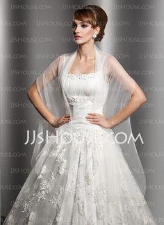 Wraps - $19.99 - Tulle Wedding Shawl (013014582) http://jjshouse.com/Tulle-Wedding-Shawl-013014582-g14582