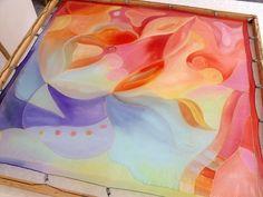 Hand painted silk scarves from Silkyway.  http://silkywaysilk.com