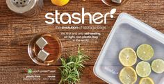 Stasher: The Evolution of Storage Bags > Eco-Friendly & Reusable!