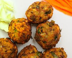 Green Moong Daal Vada #Indian #party #appetizer Mung bean (Green moong dal) – ½ cup Sooji – 1 tbsp (optional) Cumin seeds (Zeera) – 1/2 tsp Onions – 1 medium in size, finely chopped Turmeric – a pinch Green onion – 1/4 cup, finely chopped Green chilies- 2-3, finely chopped Ginger paste - ½ -1 tbsp Coriander leaves, finely chopped- 1/4 cup Curry leaves (meethi neem) – 1/4 cup, finely chpped Red chili powder as per taste Salt to taste Oil for cooking
