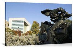 Dallas, Texas Cattle Drive Sculpture, Pioneer Plaza Panorama Picture