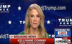 Kellyanne Conway appeared on MSNBC to respond to the FBI's announcement that further investigation into Clinton emails would not lead to criminal charges.