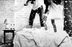 Pillow Fight anniversary shoot