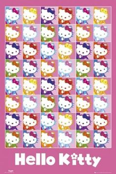 """$6.99 Hello Kitty - Poster (Collage of 48 Kitties) (Size: 24"""" x 36"""")  From Posterstoponline   Get it here: http://astore.amazon.com/ffiilliipp-20/detail/B004O7V7UM/175-6536592-1584235"""