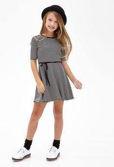 Sailor Stripe A-Line Dress (Kids) #F21Girls