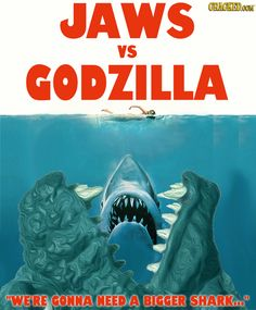 40 Great Movies Made Better by Adding Godzilla #Jaws