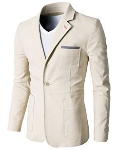 Mens Slim Fit Suits Casual Solid Lightweight Blazer Jackets One Button Flap Pockets Mens Casual Suits, Casual Blazer, African Clothing For Men, Mens Clothing Styles, Men's Clothing, Mens Fashion Wear, Blazer Fashion, Italian Mens Fashion, Man Dressing Style