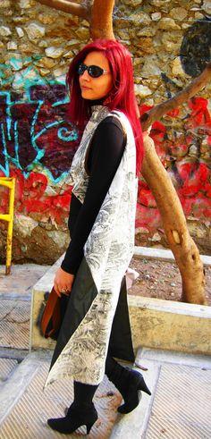 Agathi E.E.- KIKA Convertible, Duster Coat, Jackets, Dresses, Fashion, Down Jackets, Vestidos, Moda, Infinity Dress