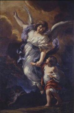 Pietro Da Cortona- Guardian Angel