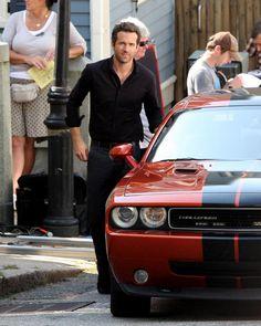 Ryan Reynolds & Dodge Challenger