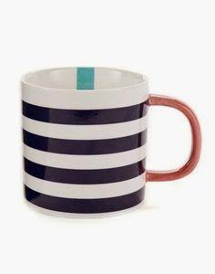 Joules striped mug